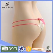 China Supplier Popular String Tie High Cut G-String