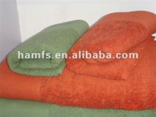 Satining dyed Military bath towel