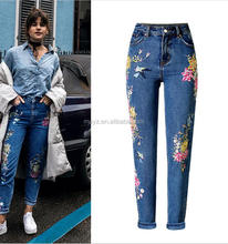 L0123A New pattern slimming pencil high end fashion ladies jeans top design