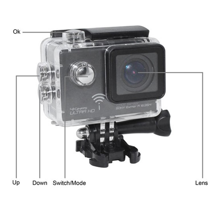 4K Wifi Sport Camera DV G-sensor Diving 60M 16M Pixels 2.0 Inch X51BW Wireless Waterproof Helmet Action Video Recorder Cam