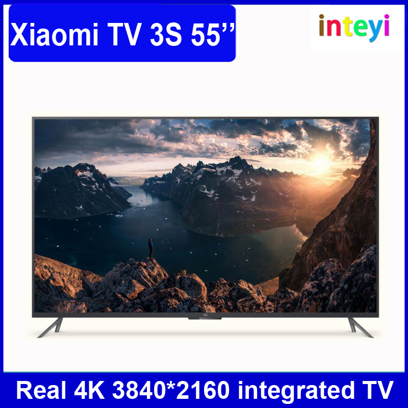 Newest TV LED 55 Xiaomi MI 3S Xiaomi 55 inch 4k tv 3840*2160 55 inch HD Ultra Screen Integrated smart 4k 1.8GHz Quad Core