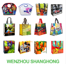 China Supplier Reusable and Promotional Glossy Matt Laminated PP Woven Shopping Bag With Webbing Handle