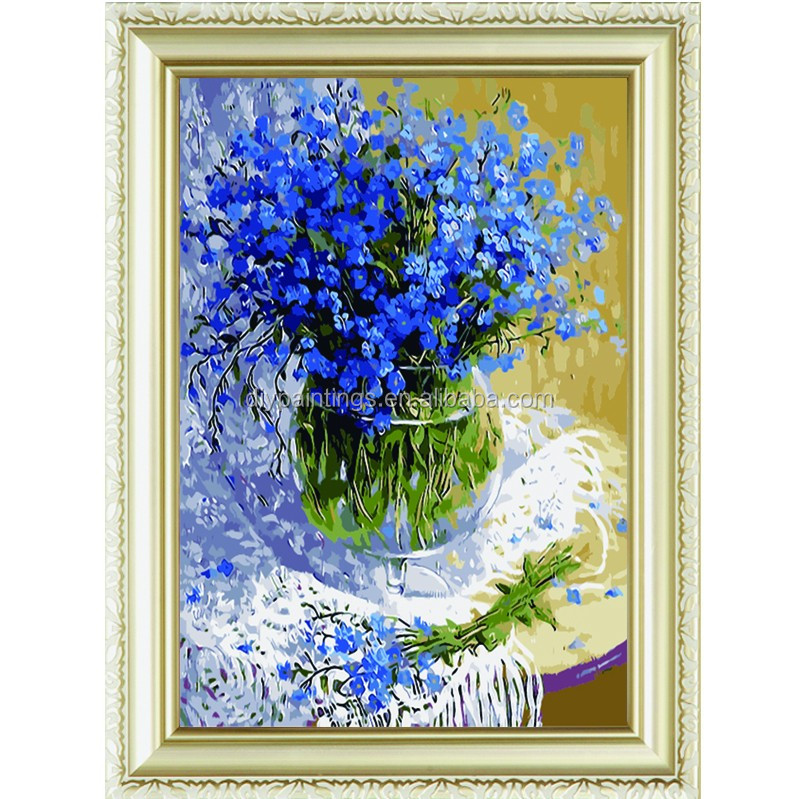 The blue glory paint by numbers modern oil menglei painting by numbers for home decoration a66