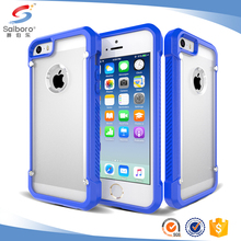 elegant customized transparent soft TPU hard PC mobile phone case for iphone 5