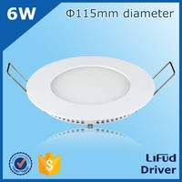 china factory direct sale 6w led ceiling lamp led panel light 4.5inch