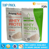 White matte OEM plastic aluminum foil stand up zipper bag for protein powder