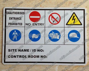 custom printing metal warning outdoor sign