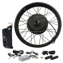 1000w brushless geared hub motor fat ebike kit with 11.6ah lithium battery