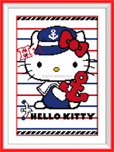 Lovely cat cartoon style embroidery cotton thread baby cross stitch patterns to print free
