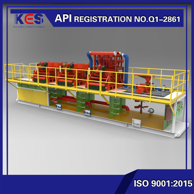 KES 1000gpm HDD trenchless mud recycling system