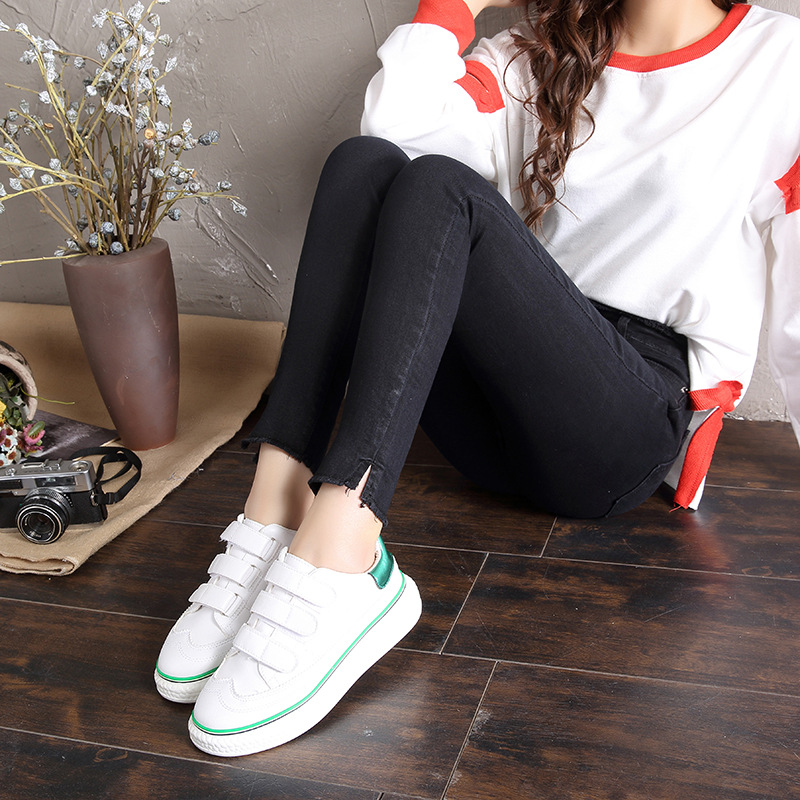 woman blue black denim ladies pencil jeans ninth high waist jeans skinny elastic oem women pencil jeans