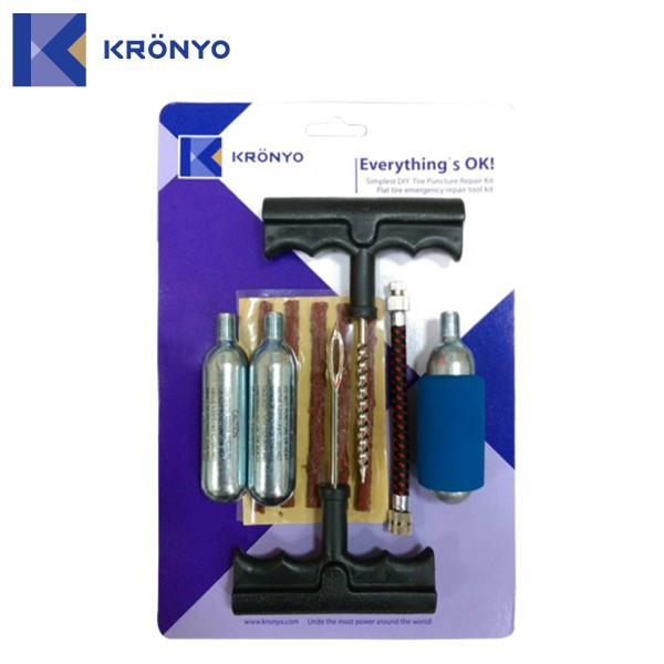 KRONYO electric car tire kit gas cylinder Co2 tyre inflator kit
