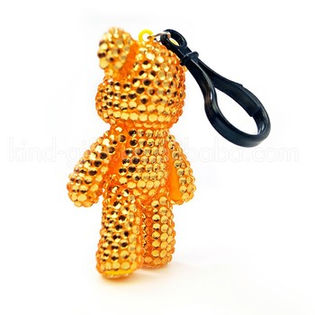 Deluxe Glitter Rhinestone Jeweled Keychains Innovative Teddy Bear Keychain