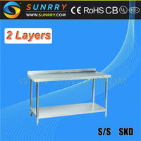 Work Table With Drawers/Stainless Steel Sorting Table/2-Tier Stainless Steel Table (SY-WT79B SUNRRY)