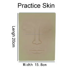 Skin color 3d face permanent makeup tattoo practice fake skin