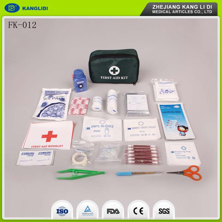KLIDI Hot Sale Chinese Best Price Emergency First Aid Kits For Car Driving