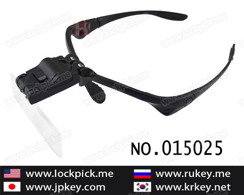 New arrived head mounted glass type LED magnifier 015025