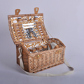 wholesale100% handmade willow basket / wicker picnic basket with straps