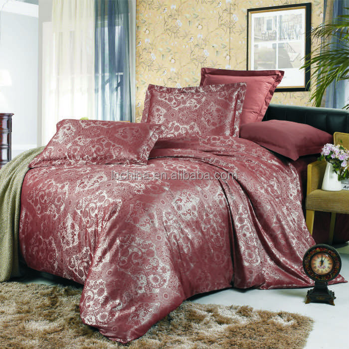 Bed Linen Factory/Russian cotton Jacquard duvet cover set/bedding set
