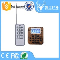Outdoor electronic 50W/150dB hunting birds sounds mp3 player with 300-500m remote control
