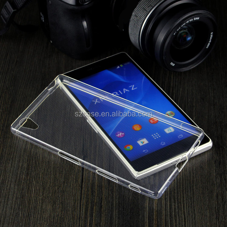 1.0mm High Clear transparent tpu mobile phone back cover case for Sony Xperia L1