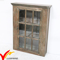 Small Antique Nature Old Wood Bathroom Wall Storage Cabinet