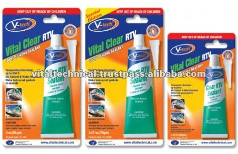 VT-164 Vital Clear RTV Acetic Silicone Gasket Maker