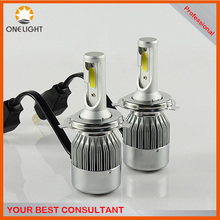 H4 High Power COB LED HL Low Beam Headlight Bulb 7600lm 72W White