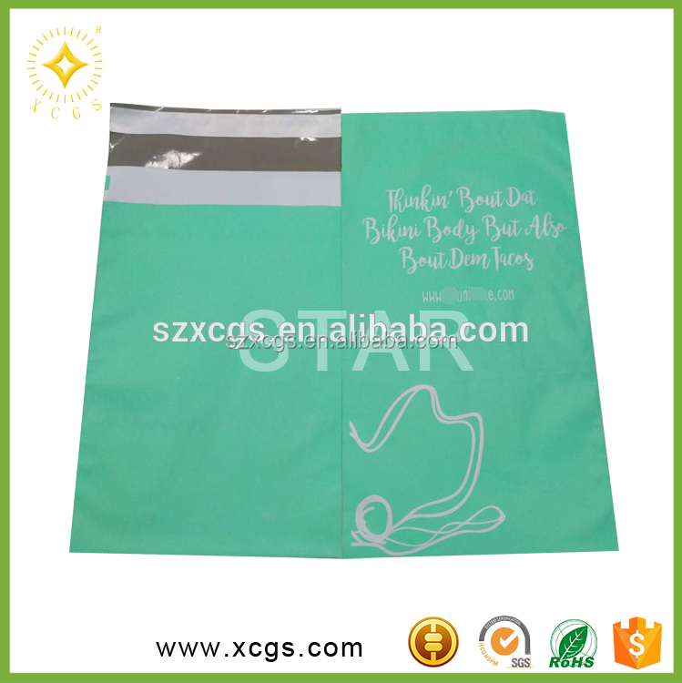 White Poly Mailing Courier Bags Custom Apparel Shipping Bags