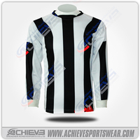 2015 Striped Classic Design Sport sublimation all printing Soccer jersey