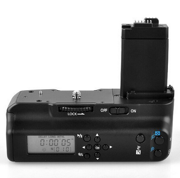 MEIKE LCD Timer Battery Grip Pack LCD grip for Canon EOS 550D 600D 650D 700D with RC5 Wireless Remote Control