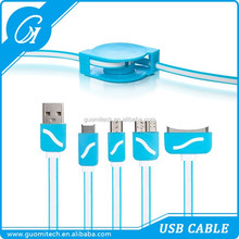 High quality USB 4 in 1 Sync Data Retractable Charger Cable