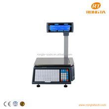 Barcode label printer 15kg commercial digital weighing scale
