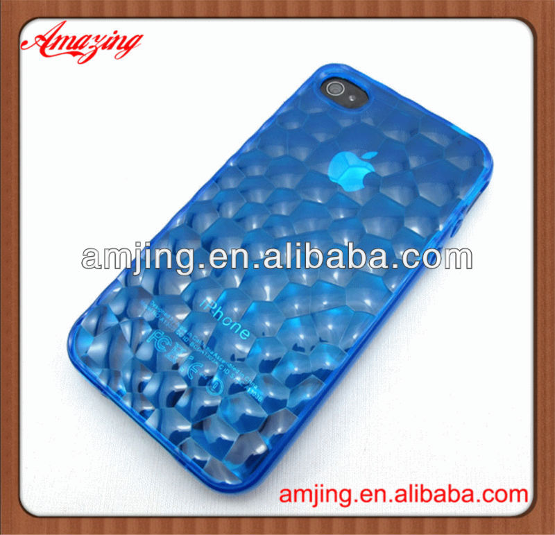Best price 3d cute soft silicone case cover skin for iphone 4