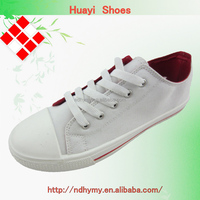 Low price girls plain white canvas shoes wholesale