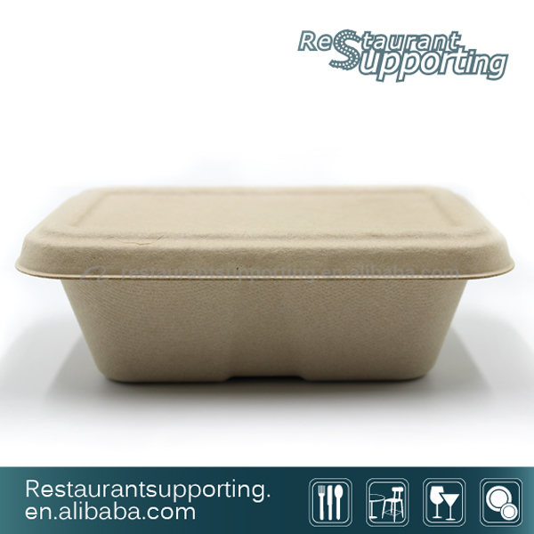Restaurant Degradable Bamboo Pulp lunch Box Food Container
