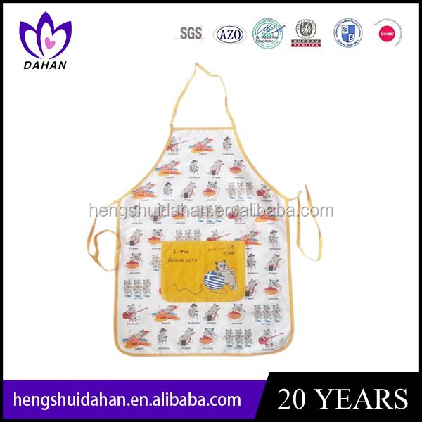 cooking use 100%cotton twill kitchen apron . oven mitten and potholder .China manufacturer