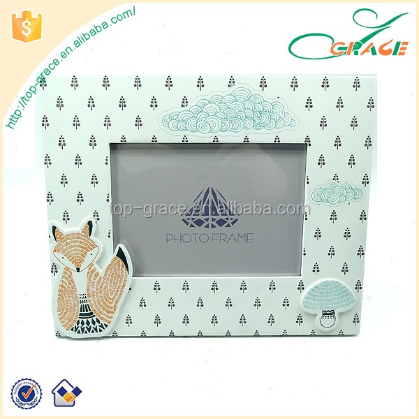 "MDF stationery for kids 4""x6"" photo frame cartoon wooden frame"
