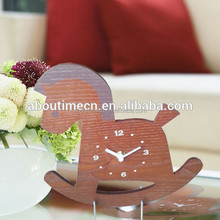 Wholesale wooden table clock with globe design for business gifts