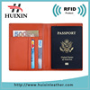 Travel RFID blocking genuine leather passport holder wallet cover case for travel men