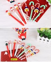 Cheap Lovely Christmas Gift Craft Pen Santa Claus Ballpoint Pen For Christmas Decoration