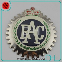 Wholesale cheap custom RAC metal car grill badges
