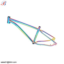 top quality customized colorful frame for titanium road bike 58cm made in china