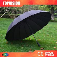 Customized factory supply double canopy golf umbrellas with air vent