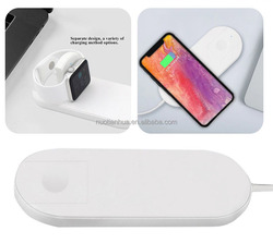 Qi Wireless Charger Fast Charging for Apple Watch 3 watch iphone X 8 plus 2 in 1 Fast Wireless usb Pad Dock Phone Adapter