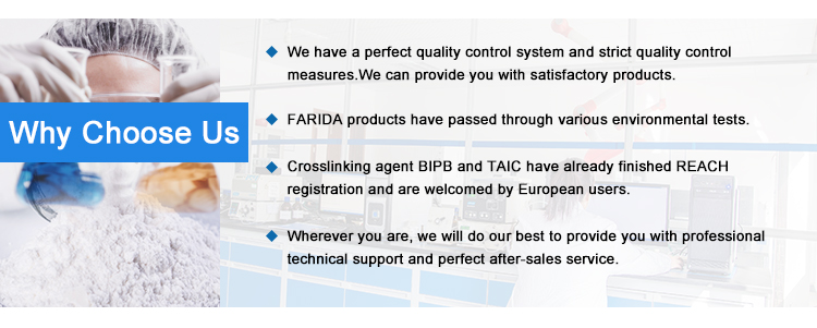 Farida TAIC-P Chemical Modifier Triallyl Isocyanurate (taic) Rubber Cross-linking Reagent Taic,Powder 70%