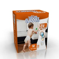 Cuddles Sotfness Cloth-like Organic Cotton Touch Disposable Pull M Size Baby Training Diapers Pants