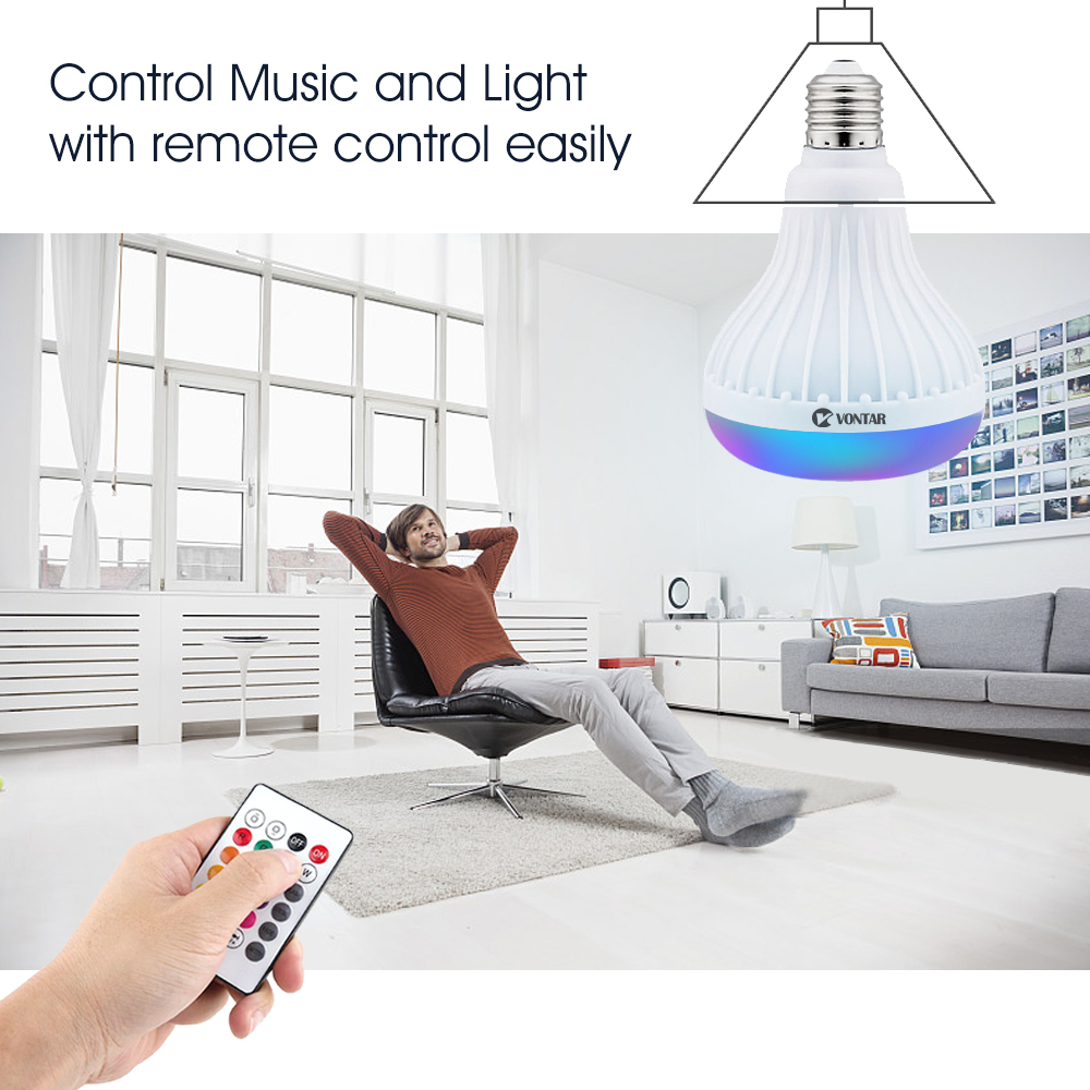 control light bulb and music using remote control