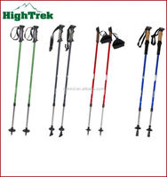 2014 New design fashionable outdoor antishock telesopic extendable adjustable carbon fiber nordic walking poles