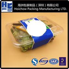 vegetable clamshell blister plastic packaging transparent clear food grade vegetable plastic packaging with logo